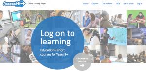 Screenshot of AccessHE Online webpage.